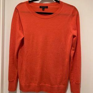 Banana Republic Orange Crewneck Merino Sweater